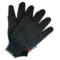 Dickies - Thinsulate-Lined - Knit Wrist - Mens - Large - Black - Jersey Gloves  Photo