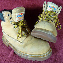 Dickies Wheat Leather Steel Toe Work Boots Insulated Oil Resistant Men's 6 1/2  Photo
