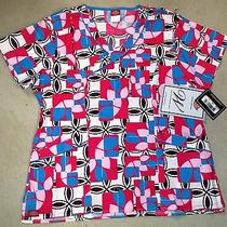 Dickies Women's Modern Tiles Scrub Top Large Photo
