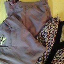 Dickies Womens Performance Stretch Black Lable Scrub 3pc Set M Top/mp Pants Photo