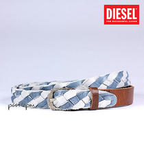 Diesel 100% Italy Authentic Boffol Woven Cow Leather Belt 95 Cm 38 in New 188 Photo