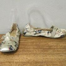 Diesel 6 Womens Obi Silver Satin Floral Print Flats Moccasin Ballet Shoes Women Photo