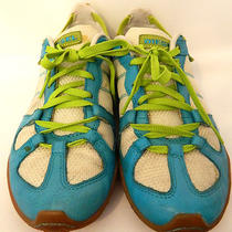 Diesel Aqua Blue White and Green Fashion Sneakers Size 10 Whitney  Photo