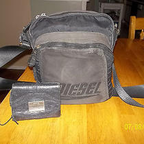 Diesel Black Crossbody Bag Purse Diesel Leather Trifold Clutch Wallet Photo