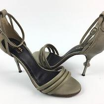 Diesel Black Gold Grey Sandals Size 39 Made in Italy Photo