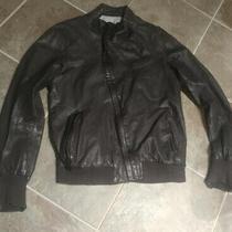 Diesel Black Gold Leather Jacket Size Large L Mens Brown Designer Lambskin Photo