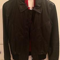 Diesel Blk Leather Bomber Jacket Rag Small Bone 0 2 Photo