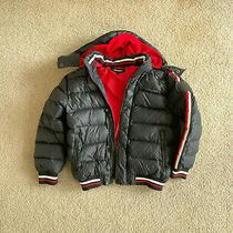 Diesel Boys Hooded Bubble Down Puffer Jacket Coat Black Size 10 Photo