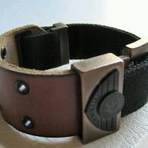 Diesel Brace Brown Leather Buckle Belt Leather Bracelet Photo