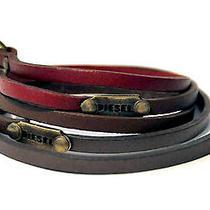 Diesel Bracelet Pour Homme Bracelet en Cuir Bracelet Marron Photo