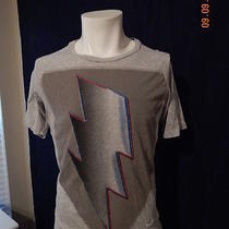 Diesel Brand T- Shirt Med Pre Owned With Lighting Bolt on Front Photo