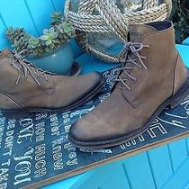 Diesel Brown Nubuck Leather Lace Up Oxford Ankle Boots 42.5 / 9.5 Photo