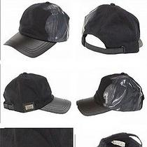 Diesel Brve Men's Saldo Black Paint Logo Cap  Photo