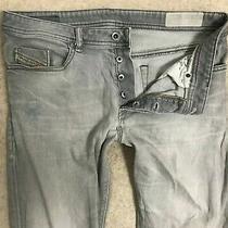 Diesel Buster Slim Fit Denim Jeans Mens W36 L34 Dark Grey Skinny Stretch Photo