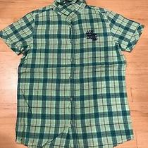 Diesel Cool Button Down S/s Shirt Vibrant Green / Blue Plaid Junior Xl Photo