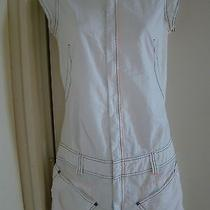 Diesel Cotton Blend White Dress Size Xs Photo