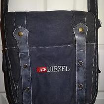 Diesel Crossbody Messenger Bag Canvas W/leather Photo