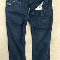 Diesel Darron Denim Jeans Mens W32 L30 Dark Blue Regular Slim Tapered Photo