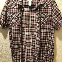 Diesel Designer Men's Plaid Shirt - Large Red/black/white Photo