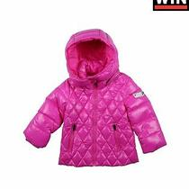 Diesel Down Quilted Jacket Size 6m Detachable Hood Zip Front Funnel Neck Photo