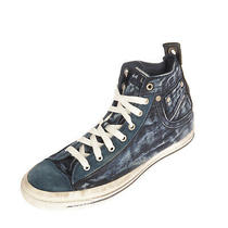 Diesel Exposure I Denim Sneakers Size 42.5 Uk 8.5 Us 9.5 Faded Worn Dirty Look Photo