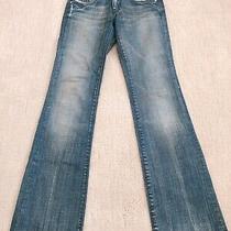 Diesel Faint Mid Blue Wash Straight Denim Jeans Pants Sz 24 (018)  Photo