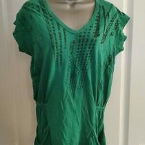 Diesel Green  Black Flattering Elasticated Top Large Photo