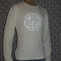 Diesel Ivory Crew Neck Long Sleeve Graphic T Shirt Mens Xxlarge 2xl Used Photo