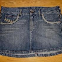 Diesel Jeans  Gorgeous Trendy Mini Denim Skirt 31'' Photo