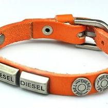 Diesel Jeans Tan Brown Leather Cuff Bracelet Watch Band Necklace  Mens Womens Photo
