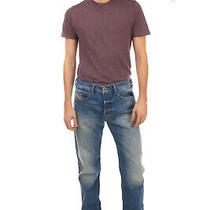 Diesel Jeans W32 L32 Faded Effect Button Fly Regular Slim Tapered Buster 0839c Photo