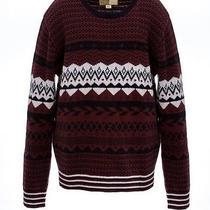Diesel 'K-Lalama' Mahogany Long Sleeve Crewneck Sweater Size M Photo