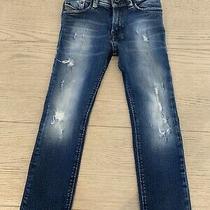 Diesel Kid Boys Jeans - Dark Blue Wash W/ Fading Size 5 (Runs Slightly Big) Photo