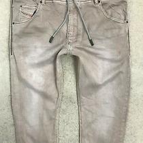 Diesel Krooley-Ne Jogg Slim Fit Denim Jeans Mens W36 L32 Dark Khaki Straight Photo