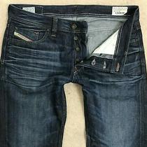 Diesel Larkee Denim Jeans Mens W34 L32 Dark Blue Regular Straight Fit Photo