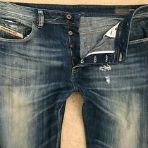 Diesel Larkee-Relaxed Denim Jeans Mens W38 L34 Dark Blue Comfort Straight Fit Photo