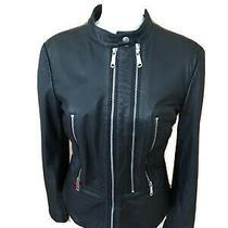 Diesel Leather Biker Jacket Women's Photo