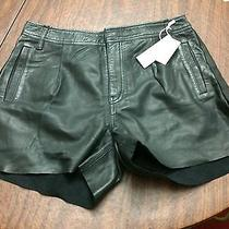 Diesel Leather Trendy Shorts Black Photo
