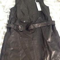 Diesel Leather Vest Sz S Photo