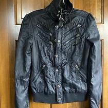 Diesel Lightweight Black Nylon Jacket Size Xs Photo