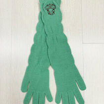 Diesel Long Knitted Glove Unique Mint Green Color / New Without Tag Photo