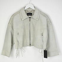 Diesel Loslin Black Gold Women's 38 It Xs Suede Leather Detailed Jacket 9575mm Photo