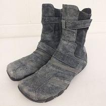 Diesel 'Mankato' Blue Suede Flat Soled Boots Us Women's 8.5 Eu 39 Fast Shipping Photo