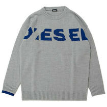 Diesel Men K-Logoxnew 00su97 Fine Knitting Sweater Rkaqr Grey Size L Photo