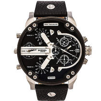 Diesel Men's Dz7313 Mr Daddy 2.0 Stainless Steel Watch With Black Leather Band Photo