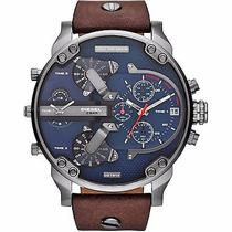 Diesel Men's Dz7314 Mr Daddy 2.0 Stainless Steel Watch With Brown Leather Band Photo