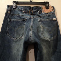 Diesel Men's Jeans/made in Italy/wide Leg/button Closure(tag34x33)(Taped 31x30) Photo