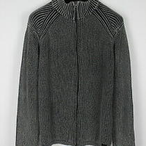 Diesel Men's Large Acid Ribbing Knitted Stretchy Full Zip Sweater 31849gs Photo