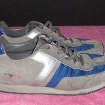 Diesel Men's Low Cut Navy Royal Blue Gray Gum Sole Libra Sneakers Us Size 13  Photo