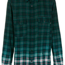 Diesel Men S-Miller 00sij9 Long Sleeve Shirt Ombre Green Size Xl Photo